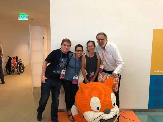 L'équipe Magic Makers à la conf Scratch